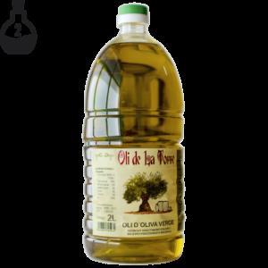 Botella d'Oli de La Torre de 2 litres. Verge. Imatge de producte.