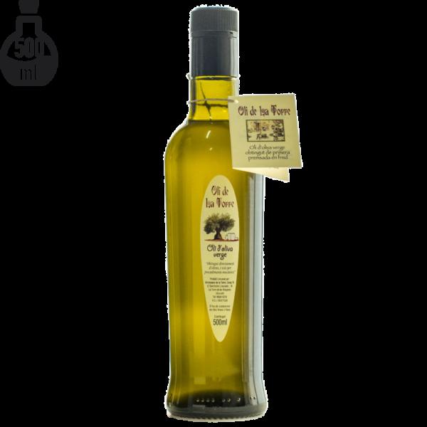 Botella d'Oli de La Torre de 500 ml. Verge. Imatge de producte.