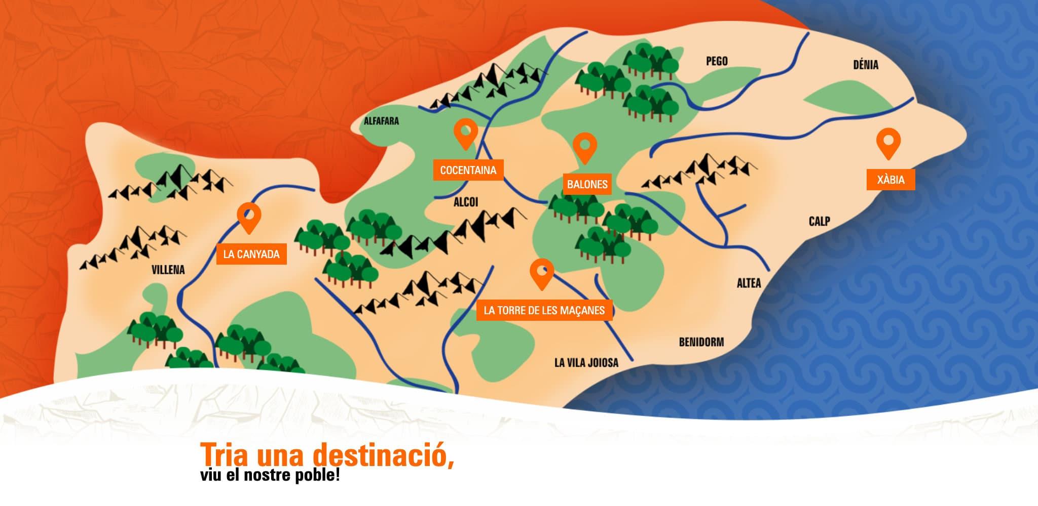 Itineraris per La Torre de les Maçanes, amb Essències
