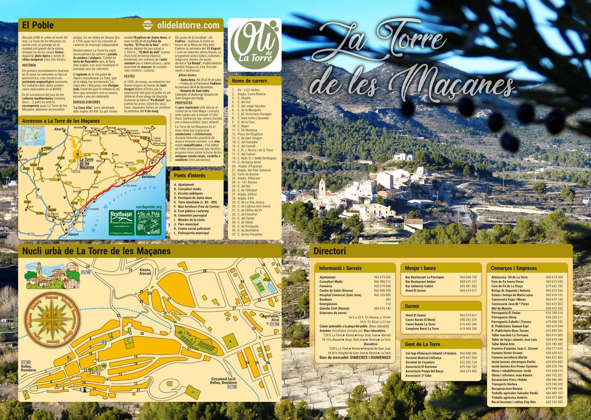 1 - Fullet de promoció de La Torre de les Maçanes. Primera cara.